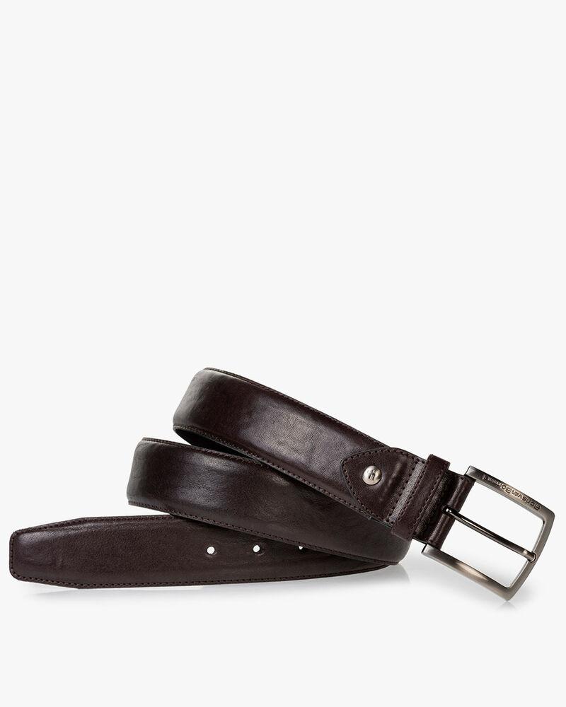 Belt leather dark brown