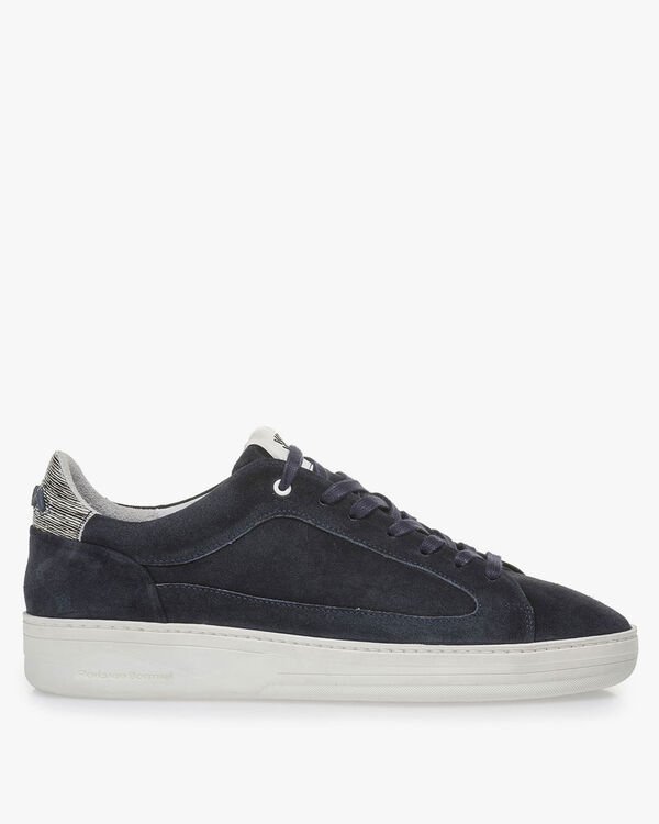 Dark blue suede leather sneaker