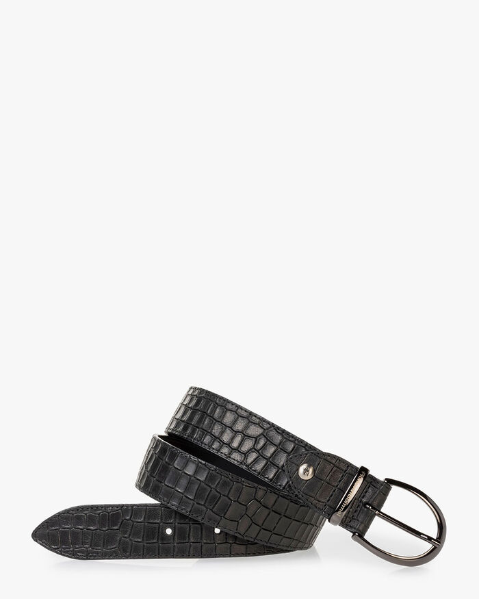 Belt reptile print black