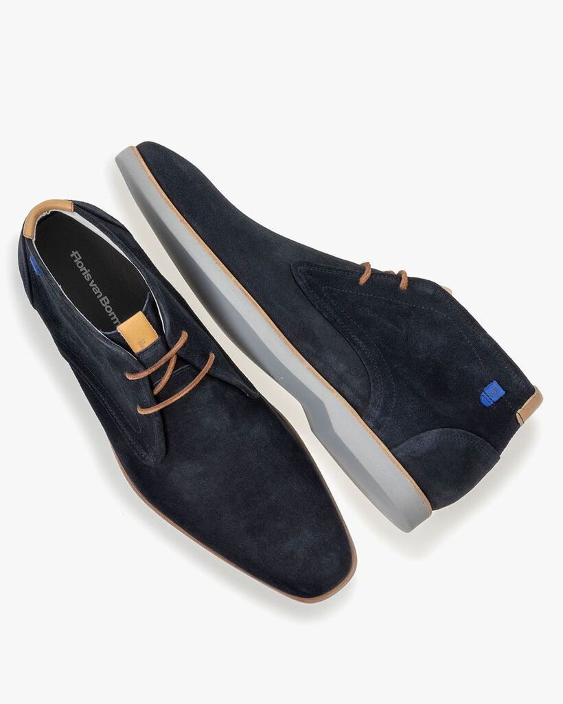 Boot suede leather blue