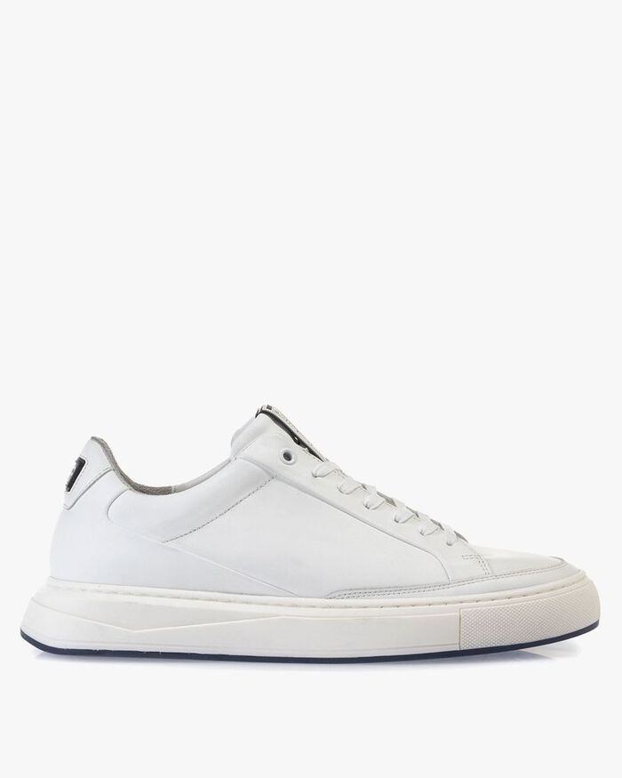 Sneaker calf leather white