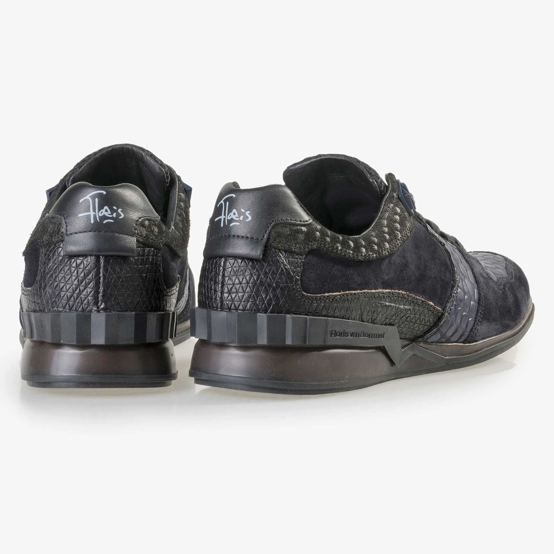 Floris van Bommel Premium donkerblauwe leren sneaker