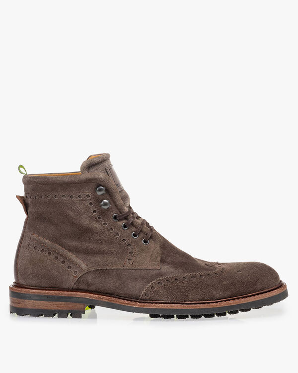 Boot suède taupe