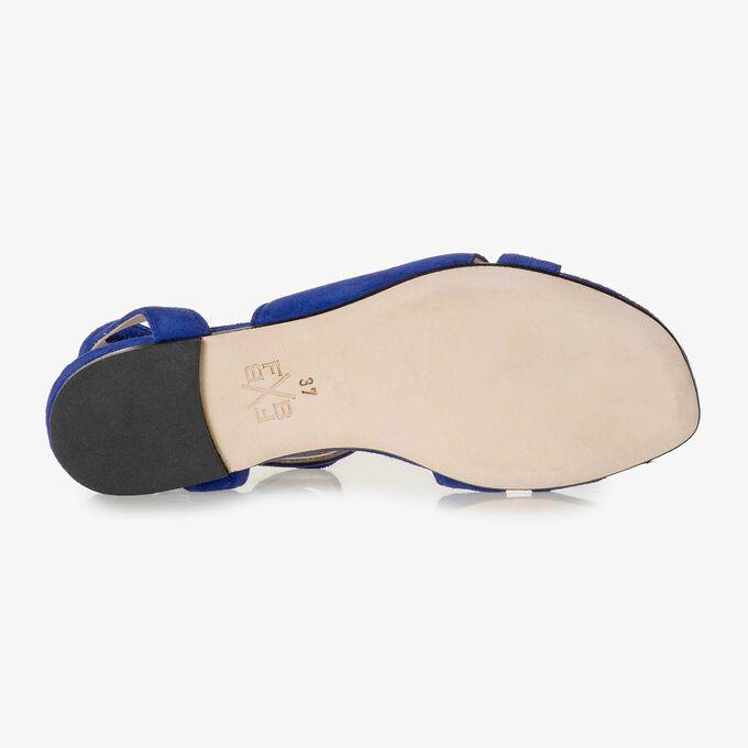 Cobalt blue suede leather sandal