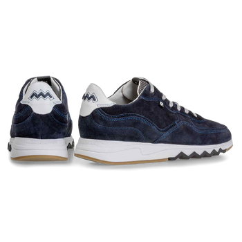 Nineti dark blue suede leather