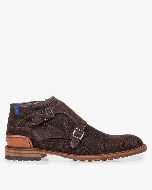 Boot with buckle brown