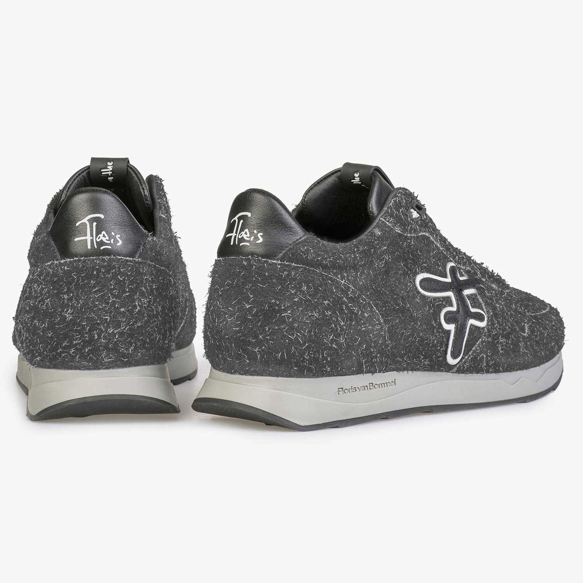 Donkergrijze ruwharige sneaker