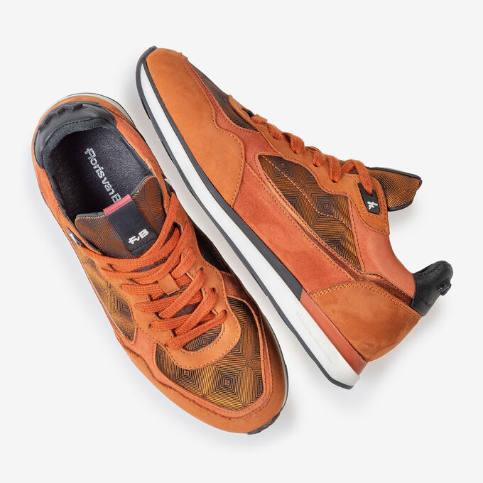 Sneaker nubuck leather rust