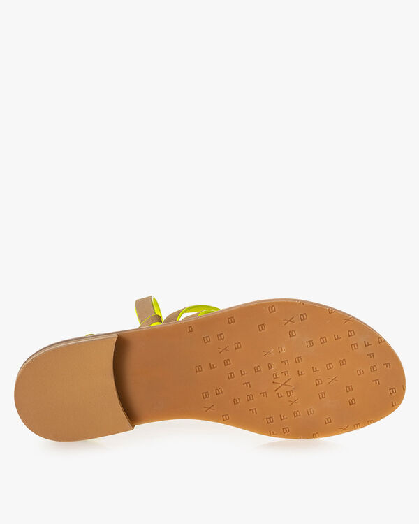 Sandal suede leather beige