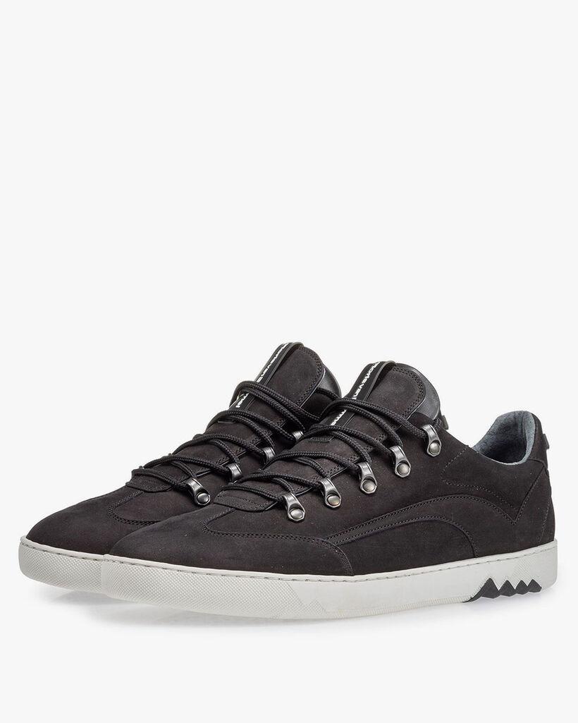 Sneaker nubuck zwart