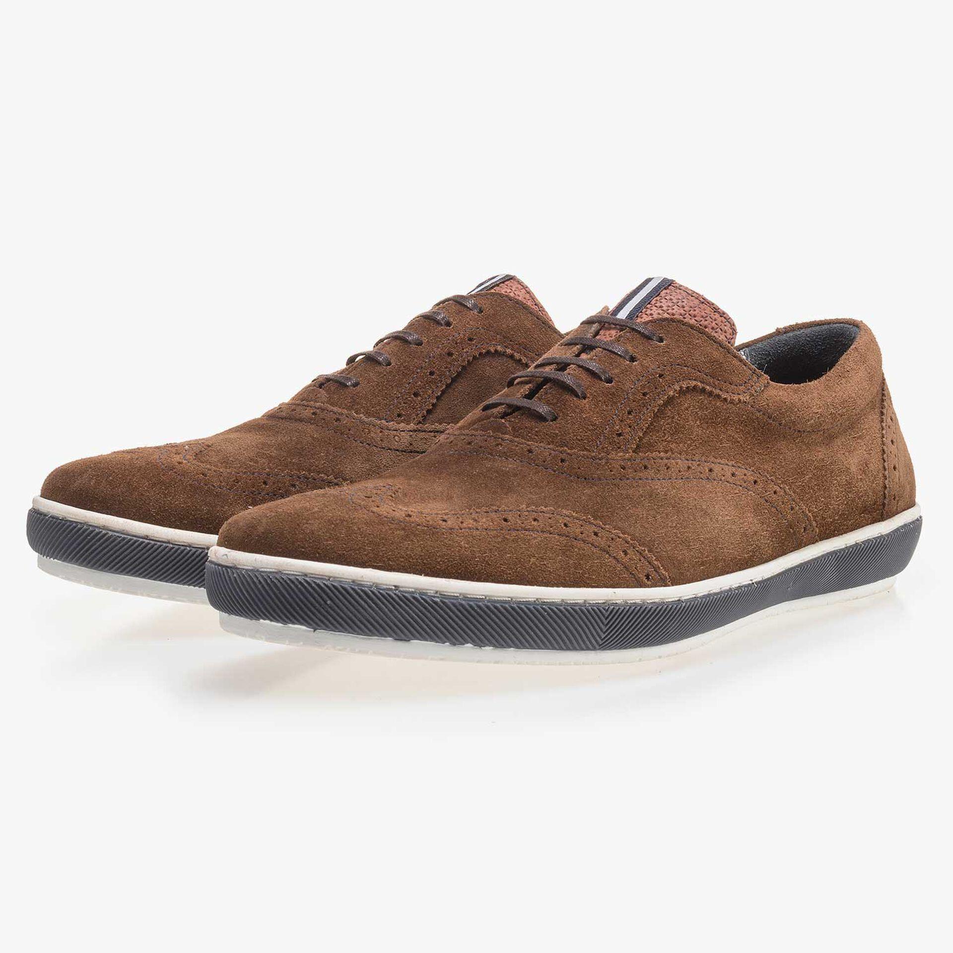 Bruine suède brogue sneaker