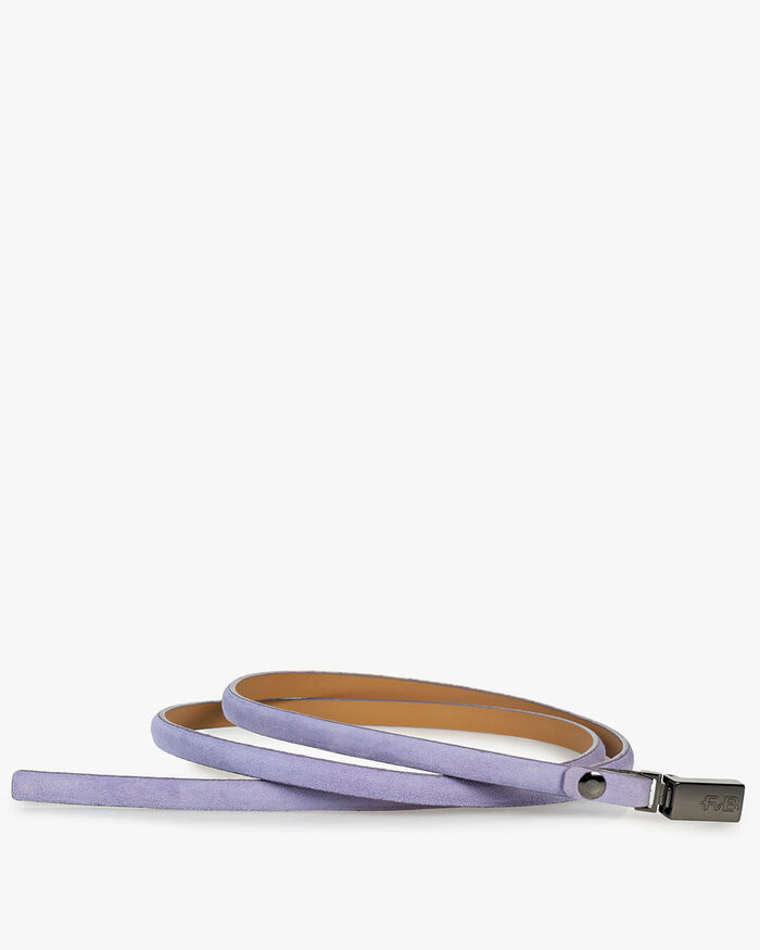 Belt suede leather purple