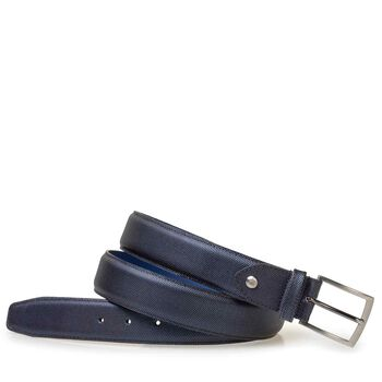Belt metallic print blue