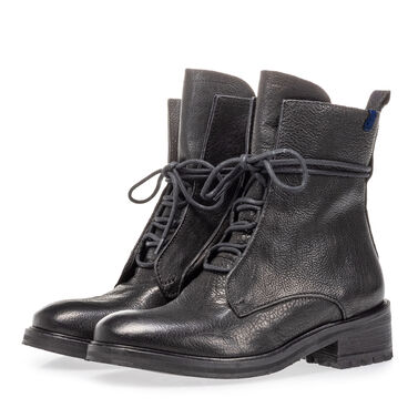 Leren veterboot dames