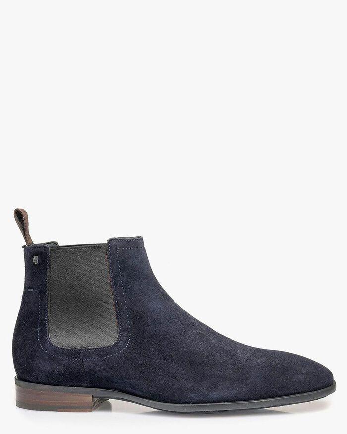 Chelsea boot suède blauw