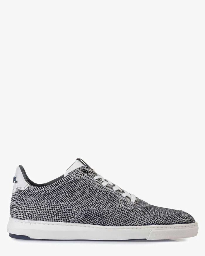 Sneaker suede leather off-white