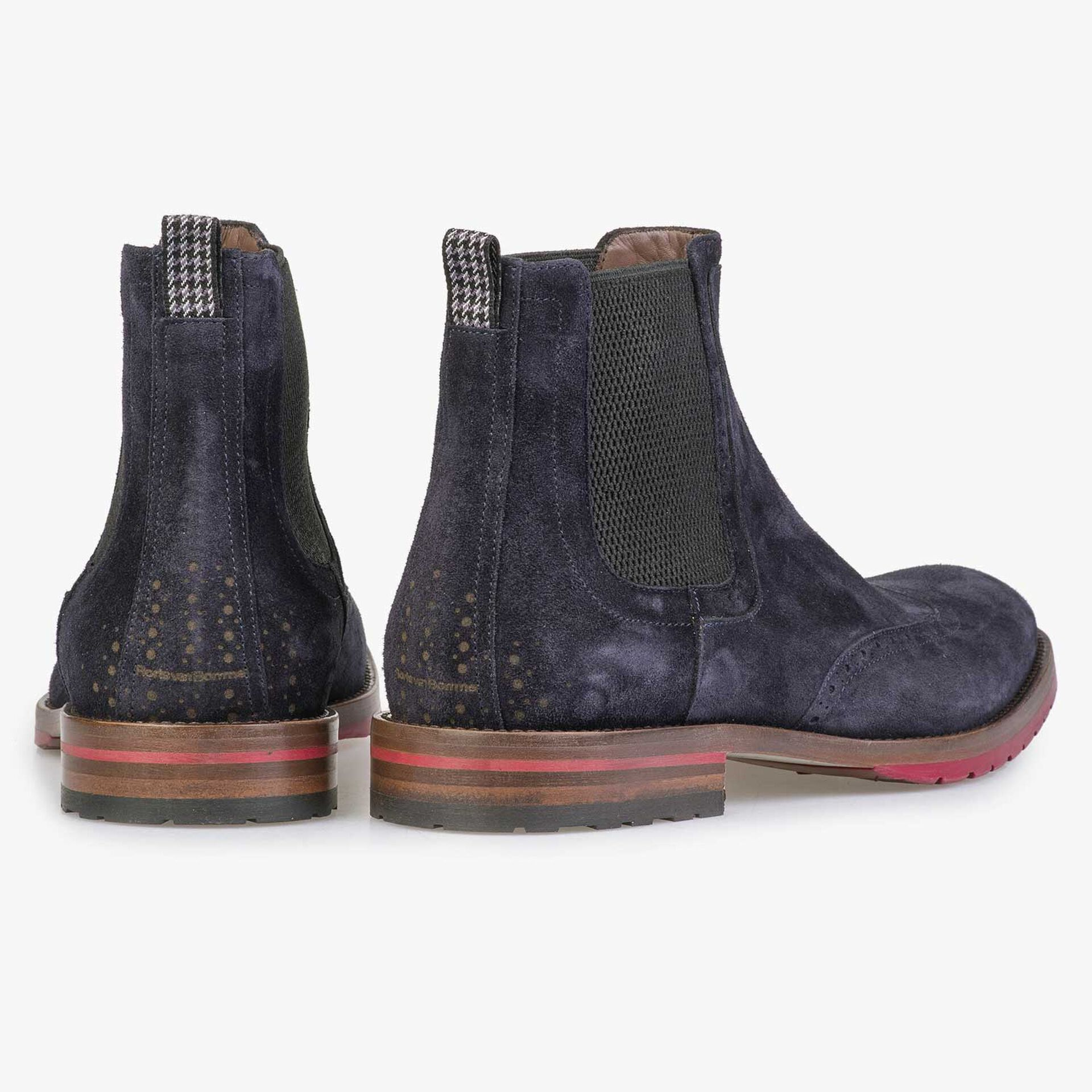 Blauwe suède chelsea boot