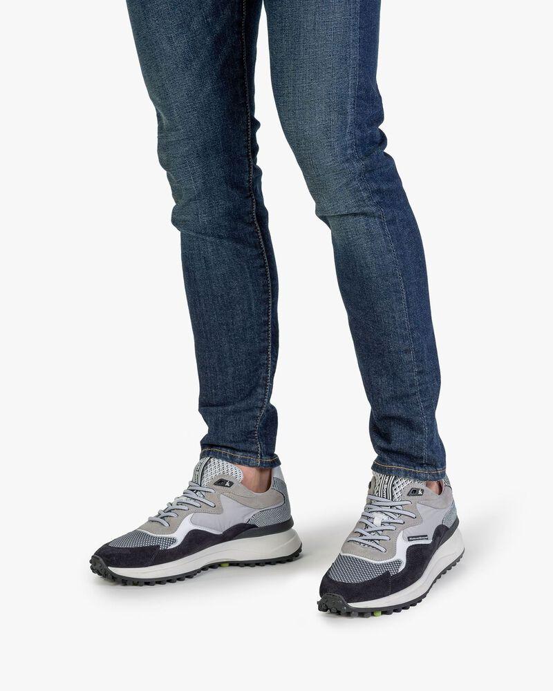 Noppi sneaker suède lichtgrijs