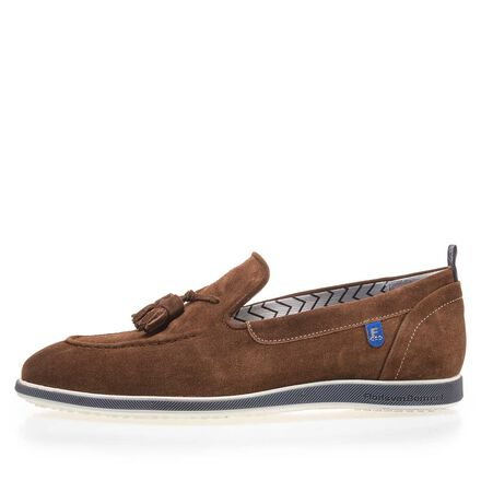 Suede leather tassel loafer