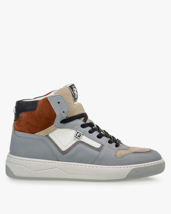 Sneaker leer grijs