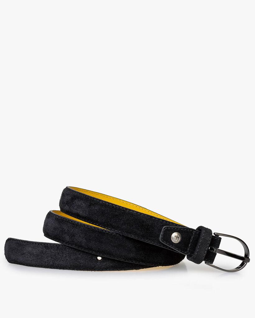 Belt suede leather black