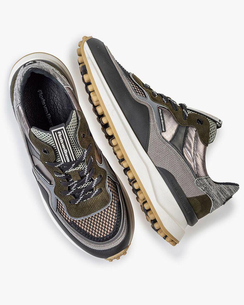Noppi sneaker grijs/groen