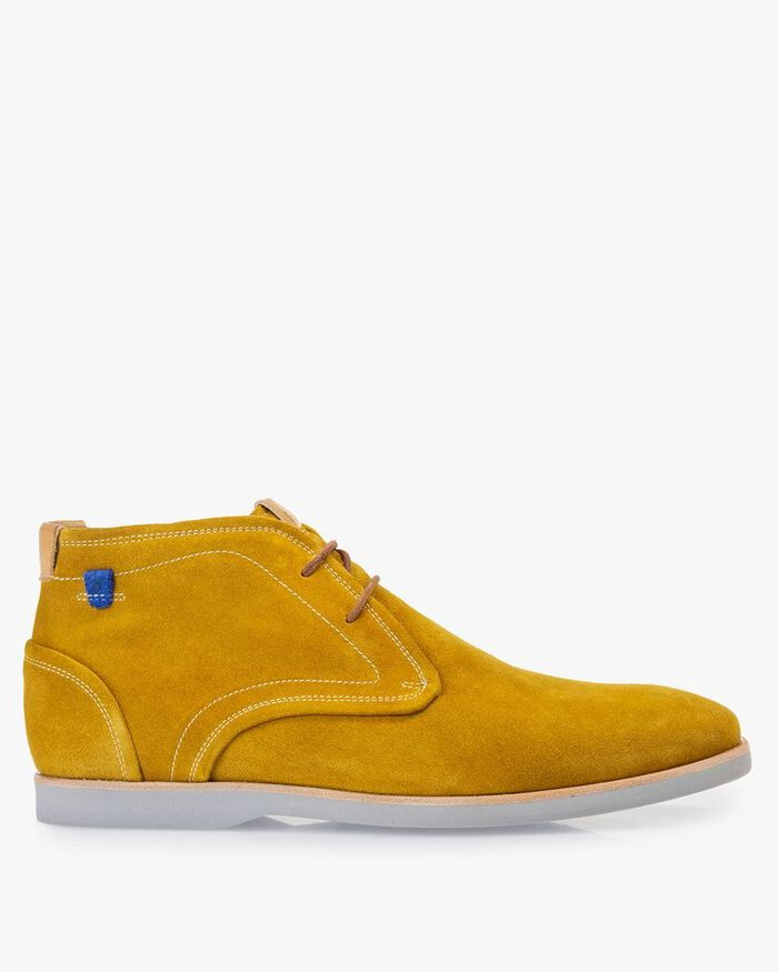 Boot suede leather yellow