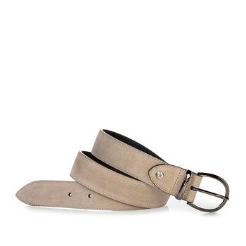 Belt suede beige
