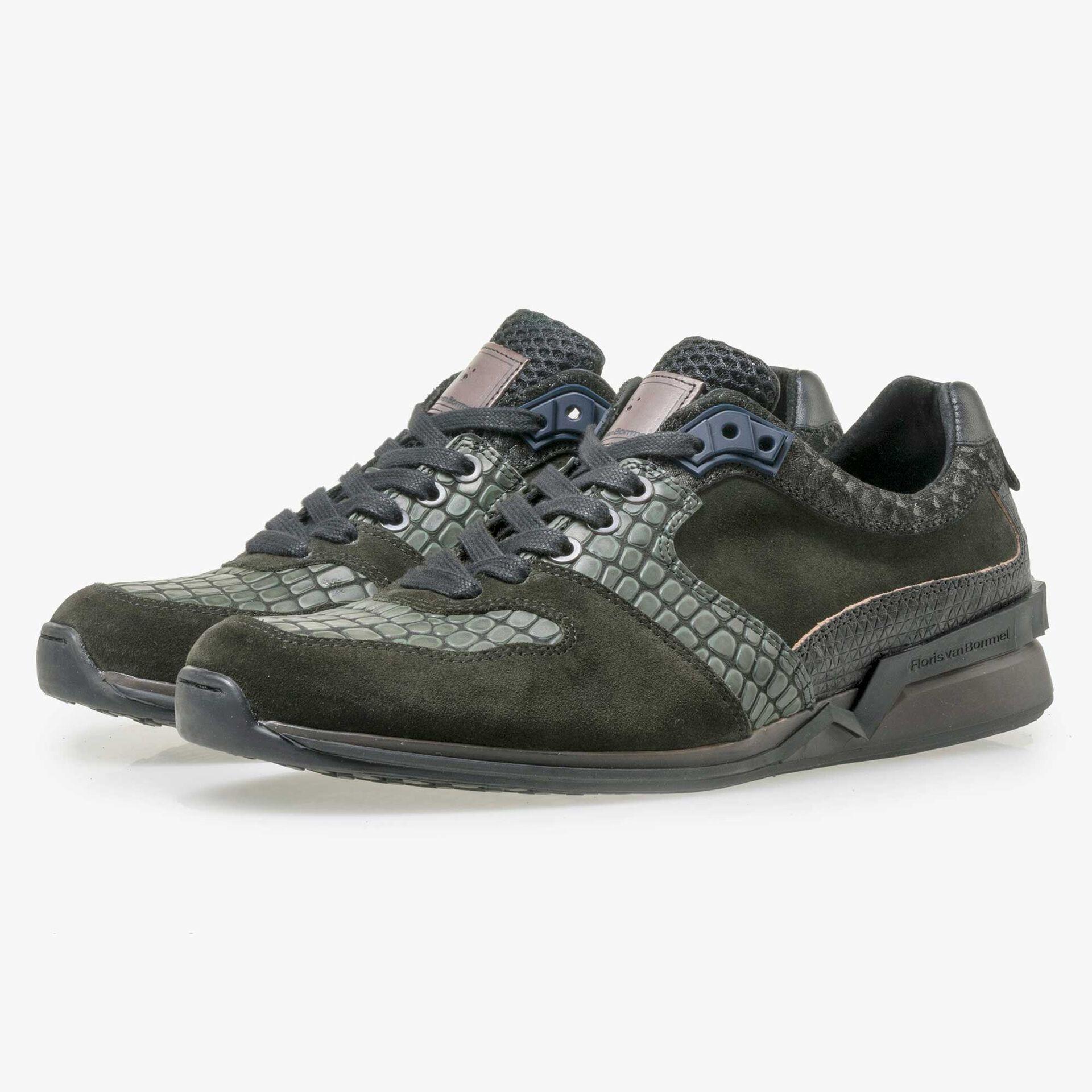 Floris van Bommel Premium olive green leather sneaker