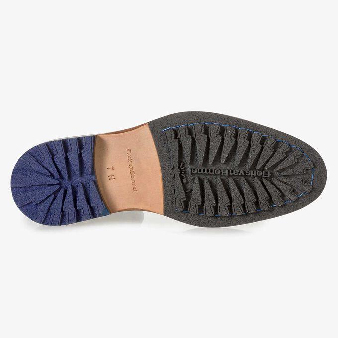 Dark blue suede Chelsea boot