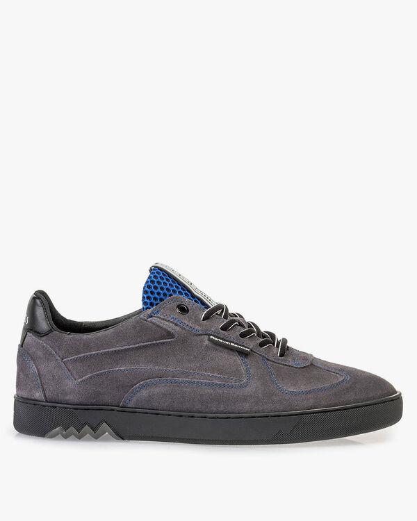 Sneaker grijs suède