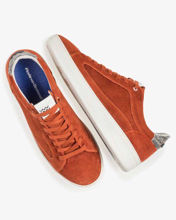 Oranje/rode suède sneaker