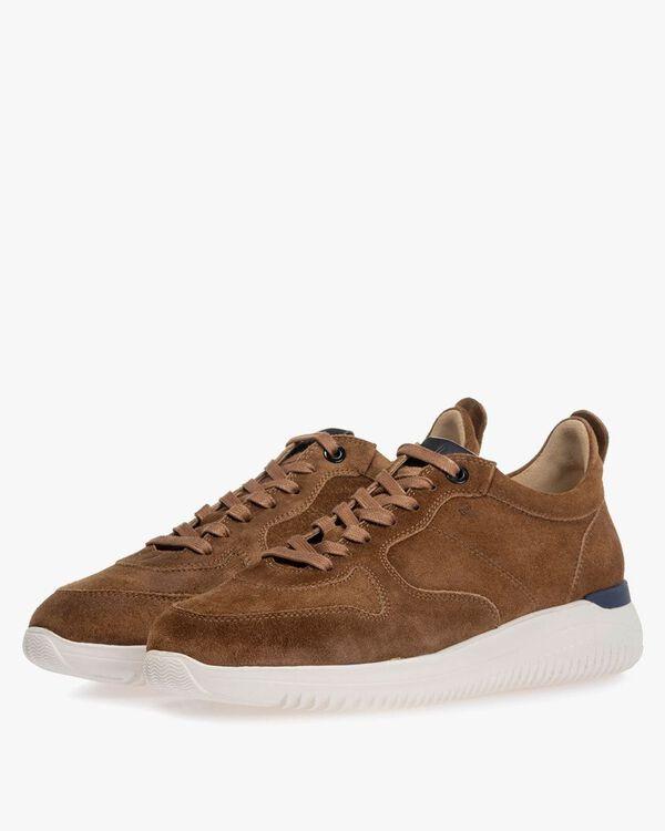 Sneaker suède cognac