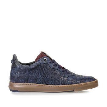 Sneaker reptile print blue