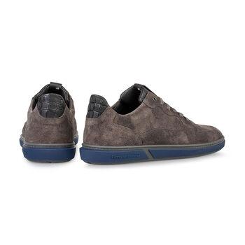 Sneaker geprint leer donkergrijs