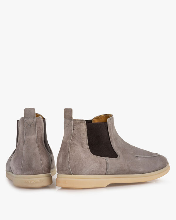 Chelsea boot suede leather grey