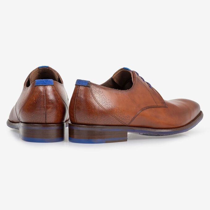 Lace shoe calf leather dark cognac