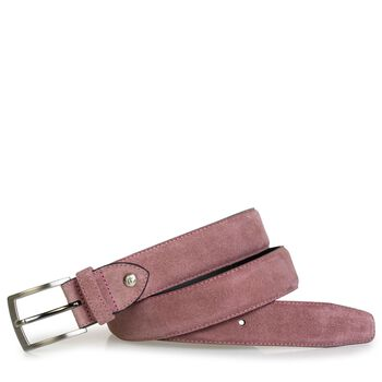 Belt suede leather pink