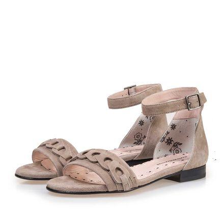 Sandaal met gespsluiting