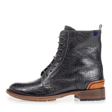Calf leather lace boot women