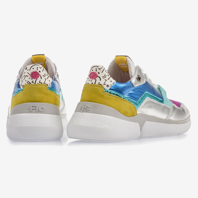 Multi-color leren sneaker