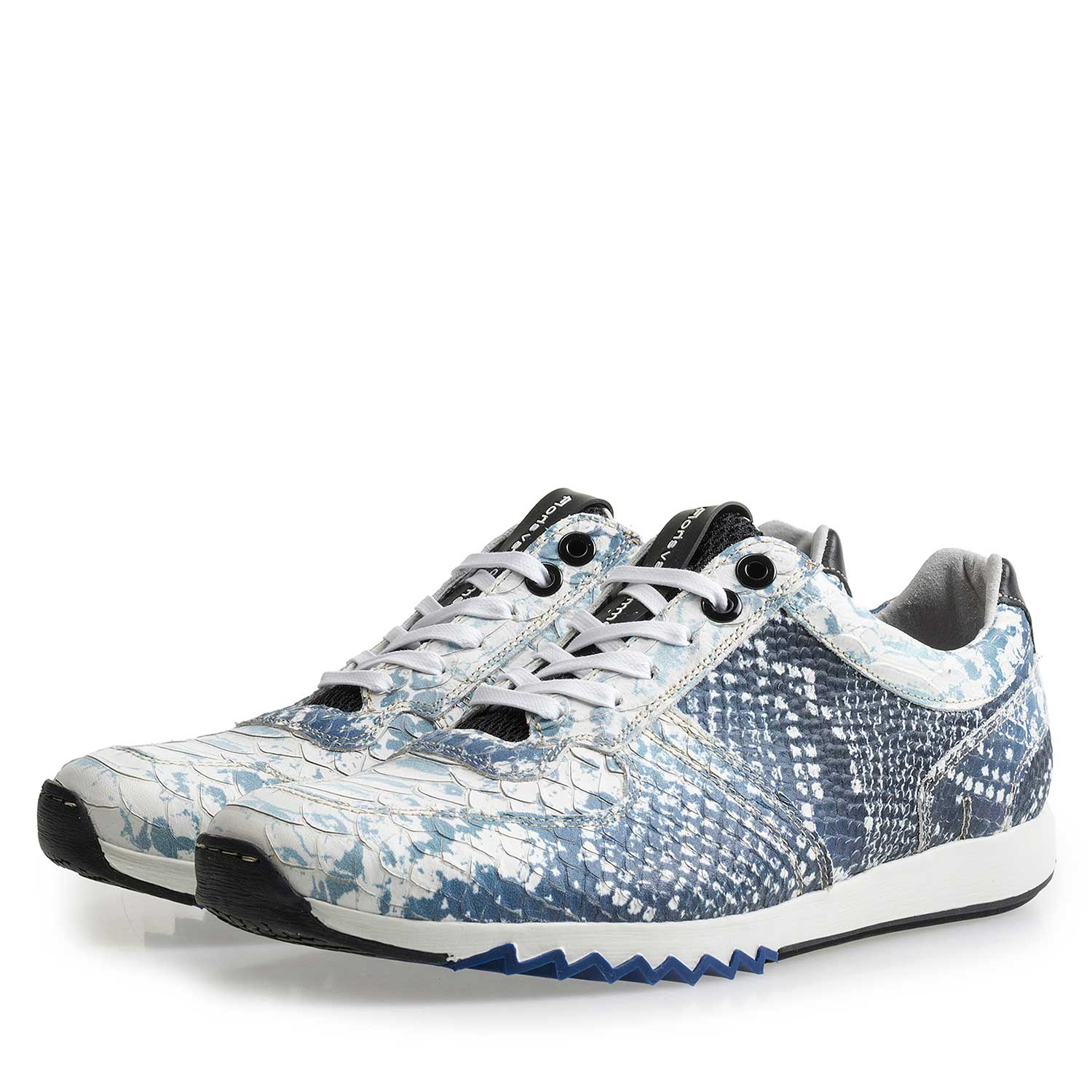 16227/14 - Dark blue sneaker with snake print