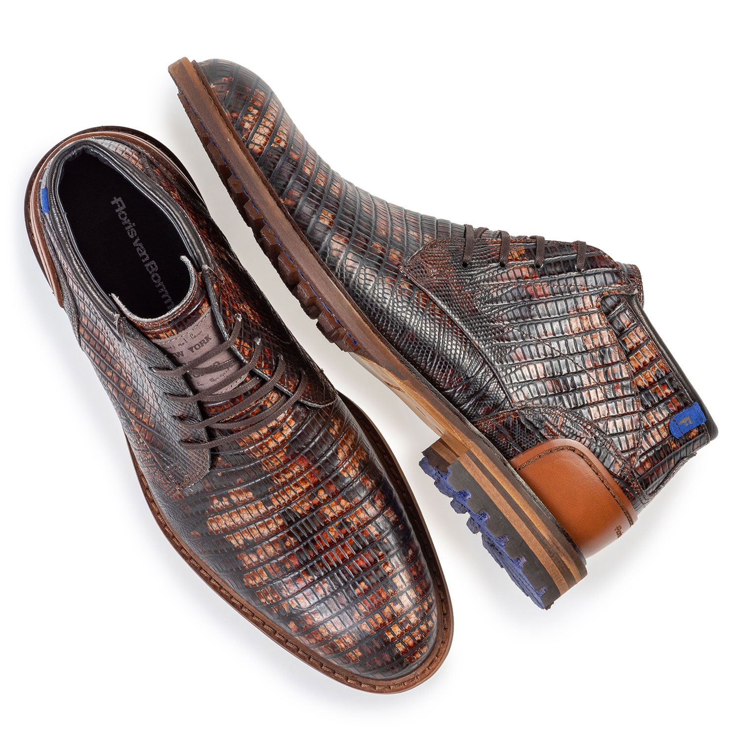 20102/15 - Crepi boot lizardprint cognac