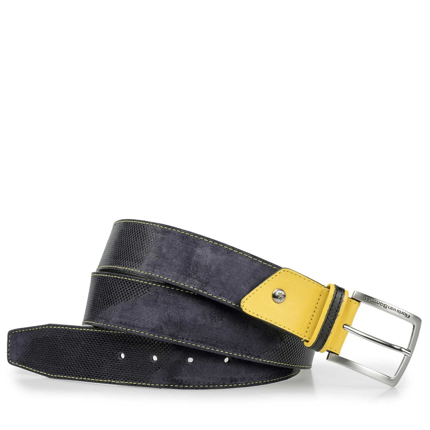 75193/01 - Blue / grey belt with yellow details