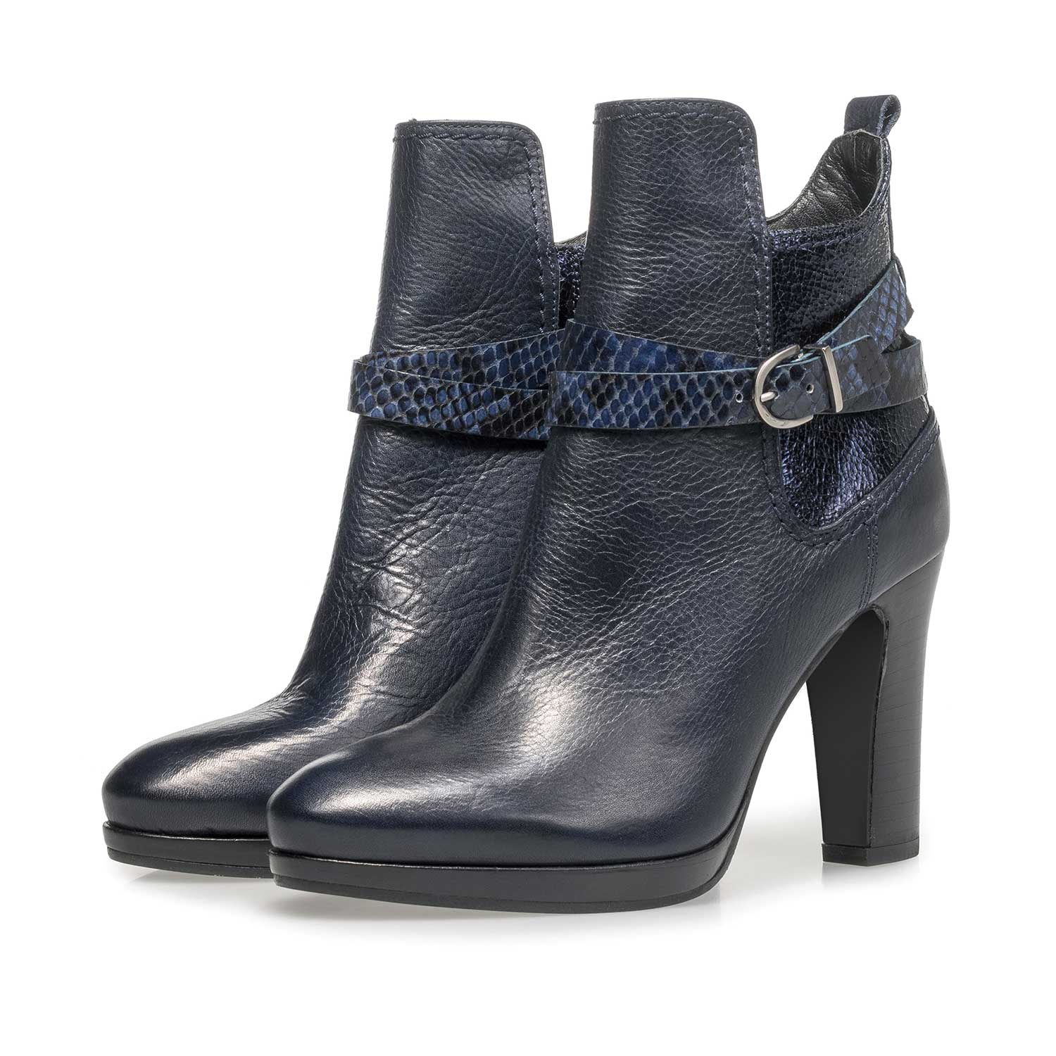 85609/05 - Blue calf leather ankle boots