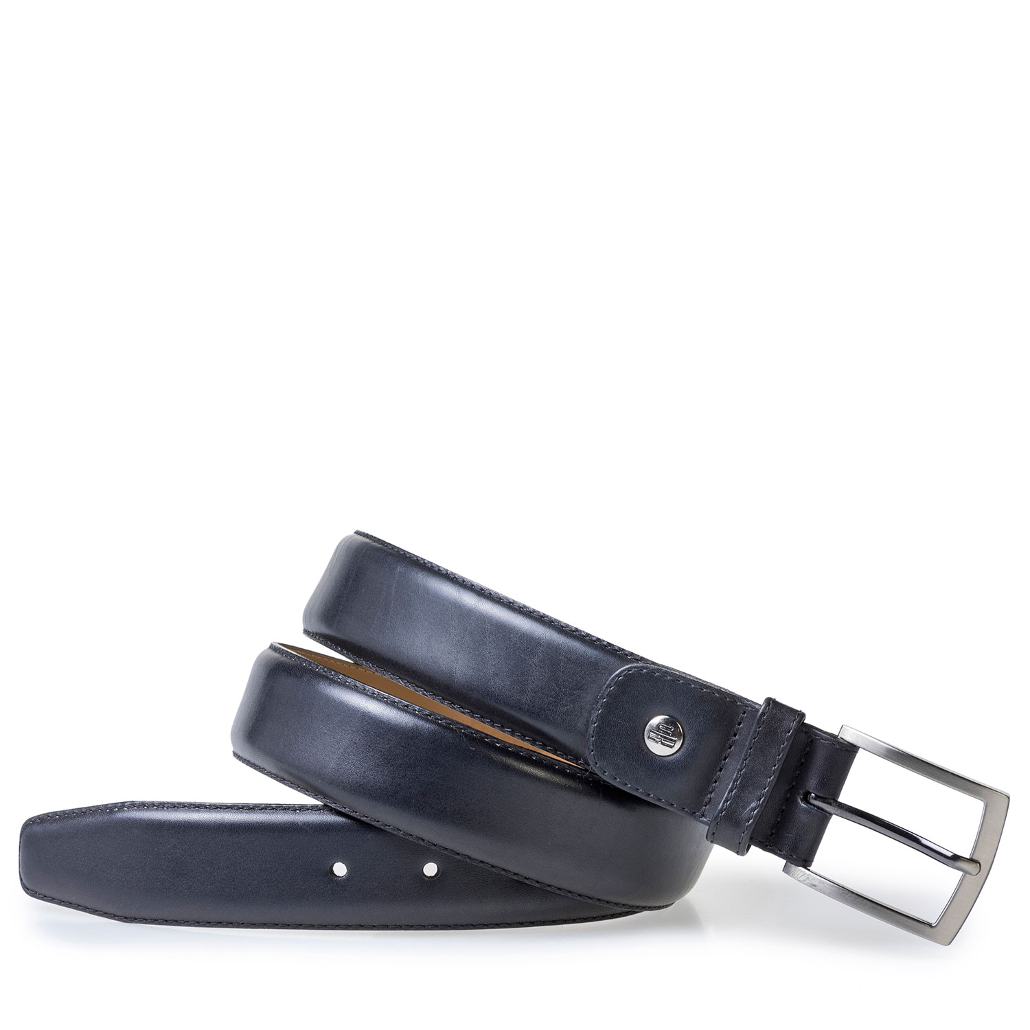 75533/16 - Dark blue calf leather belt