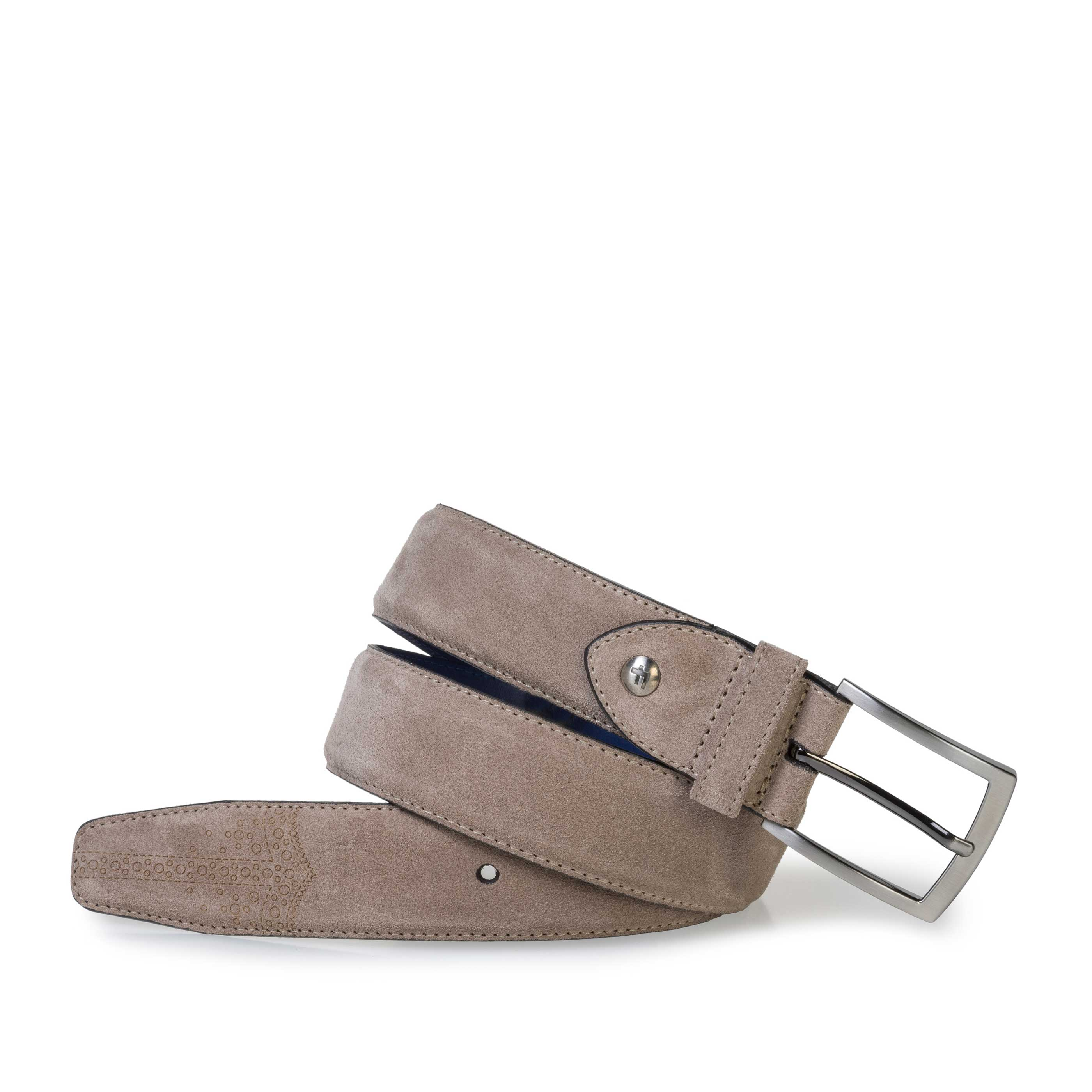 75213/01 - Beige suede leather belt