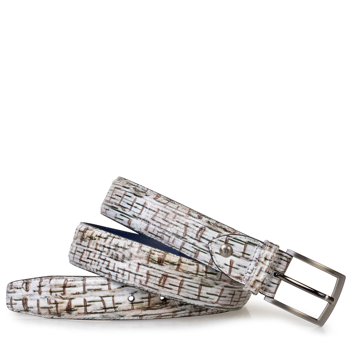 75203/94 - Belt with print off-white