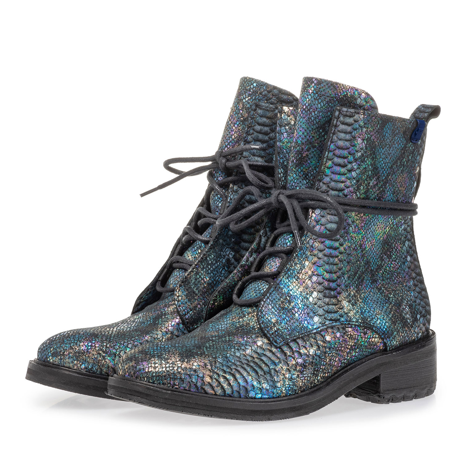 85647/02 - Lace boot snake print multi-colour