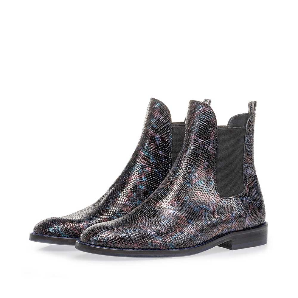 85668/00 - Chelsea boot crocoprint blauw
